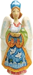 Folk Nativity Standing Nativity Angel  Hand Moulded, Hand Painted  Limited Edition  Russia