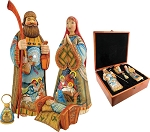 Sacred Unity Holy Family Set, Hand Moulded, Hand Painted, Limited Edition, Russia