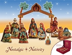 Nostalgic Nativity Set  Hand Moulded, Hand Painted  Russia  Limited Edition