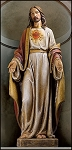 48 inch Sacred Heart Statue  Resin  Avalon