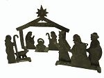 Recycled Iron Drum Nativity, Haiti