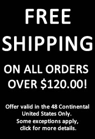 Free Shipping over $120.00!