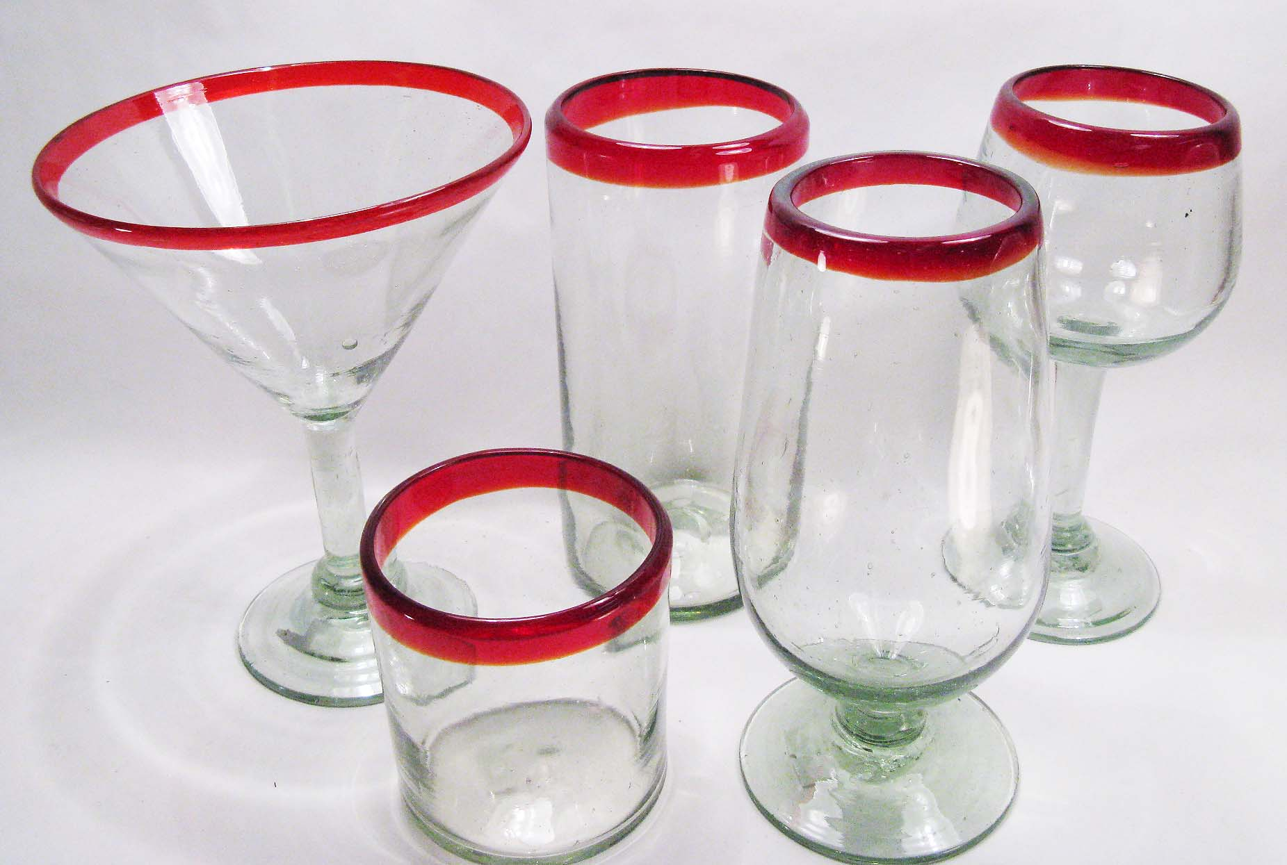 red rim mexican glass