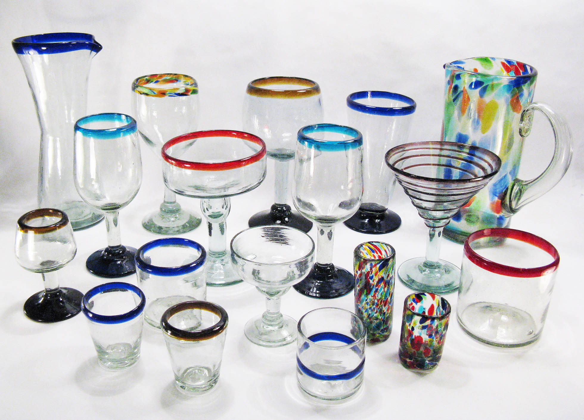 Drinking Glasses - Mexican Hand Blown Glass for your Bar, Kitchen ...