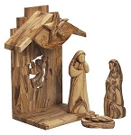 Nativity Set  Music Box  Olive Wood  West Bank
