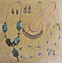 NECKLACE SETS, EARRINGS, BRACELETS
