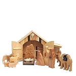 Tabletop Nativity with Storage, Wood/Fabric from Armenia