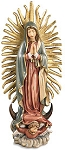 8 inch Our Lady of Guadalupe Statue, Dolfi   Wood Italy