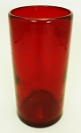 Perfecto Tumber Glass, 16 oz. Solid Red<br>Hand blown glass from Mexico