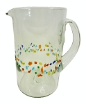 Margarita Pitcher, 56 oz.<br>Tutti Frutti Speckled Band<br>Hand blown glass from Mexico