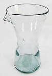 Wine Decanter - Carafe, 1/2 Liter Clear Glass<br>Hand blown glass from Mexico