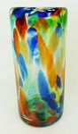 Tall Ice Tea Glass,  22 oz. Solid Confetti<br>Hand blown from Mexico