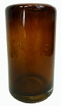 Juice Glass, 8 oz. Solid Amber, Hand blown glass from Mexico