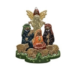 Hand-Painted Wall Nativity  Albizia Wood  Indonesia