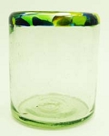 All Purpose Rocks Glass, 12 oz. Caribbean Rim<br>Hand blown glass from Mexico