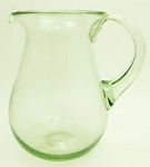 Pera Pitcher, 56 oz. Clear Glass<br>Hand blown glass from Mexico