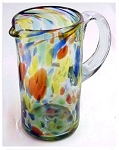 Margarita Pitcher, 56 oz. Solid Confetti<br>Hand blown glass from Mexico