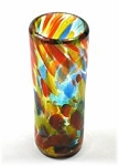 Shot Glass, 2 oz. Solid Confetti<br>Hand blown glass from Mexico