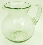 Bola Pitcher, 80 oz. Clear Glass<br>Hand blown glass from Mexico