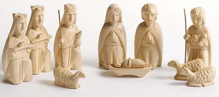 Wooden Hand Carved Nativity Sets ~ Hand carved new life nativity scene philippines
