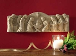 Away in the Manger Nativity Scene Hand Cast Stone  Made in U.S.A.