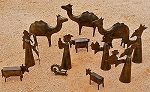JUMBO 3-D Nativity Scene  Iron  India