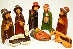 Sunk-in Nativity Scene Hand Made & Hand Painted Ceramic Peru
