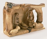 Sheltering Cave Nativity Olive Wood, Bethlehem, West Bank