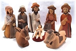 Nativity Scene  Ceramic  Peru