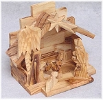 Nativity Scene Olive Wood, Bethlehem, West Bank