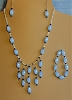 Glass, Crystals, & Sterling Silver Necklace, and/or Matching Earrings, Bracelet
