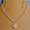 Rose Quartz and Sterling Silver Necklace and/or Matching Earrings