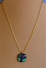 Handmade Dichroic Glass Pendant on chain Necklace