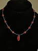Carnelian, Glass, & Sterling Silver Necklace