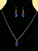 Vintage Rhinestone Crystals and Brass Necklace and/or Matching Earrings