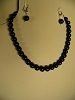 Black Onyx & Sterling Silver Necklace and/or Matching Earrings