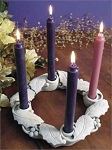Advent Wreath-WNC  Hand Cast Stone  Made in U.S.A.