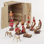 African Hearth Nativity  Banana Fiber  Uganda