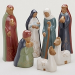 Andes Mountain Chulucana Nativity  Ceramic  Peru