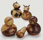 Peruvian Gourd Holy Family Nativity, Peru