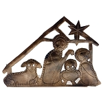 Tealight Nativity, Recycled Iron, India
