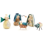 Roly Poly Nativity Scene Snowman Figures  India