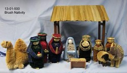 Nativity Scene with Stable Brush Art  Philippines