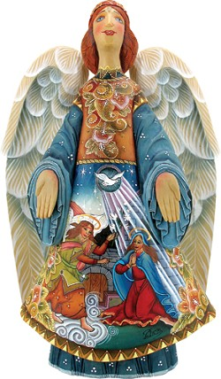 Miraculous Blessing Angel  Nativity Scene  Hand Moulded, Hand Painted   Limited Edition   Russia
