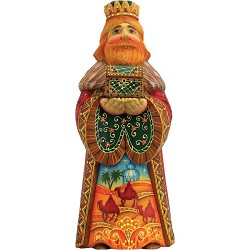 Folk Nativity King Melchior  Hand Molded, Hand Painted   Limited Edition   Russia