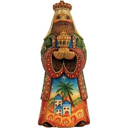 Folk Nativity King Balthazar  Hand Molded, Hand Painted   Limited Edition   Russia