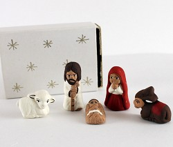 Matchbox Nativity  Ceramic, Paper  Peru
