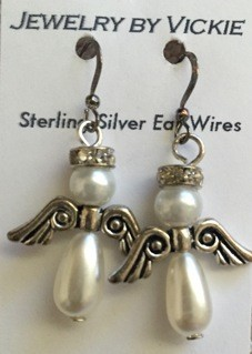 Angel Earrings, with crown