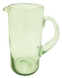 Margarita Pitcher, 56 oz. Clear Glass<br>Hand blown glass from Mexico