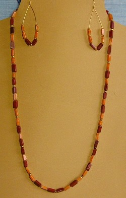 Jasper and 14K GF (Gold-Filled) beads Necklace and/or Matching Earrings